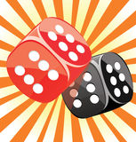 Dice lucky casino gambling game win success Royalty Free Stock Images