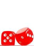 Dice macro Stock Photo