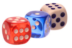 Dice Macro Isolated Royalty Free Stock Photography