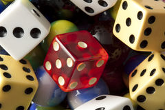 Dice & Marbles stock photography