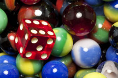 Dice & Marbles Royalty Free Stock Images