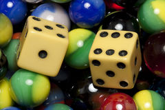 Dice & Marbles Stock Photos
