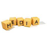 Dice and media Stock Image