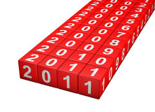 Dice new year Royalty Free Stock Photography