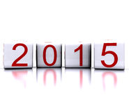 Dice with new year 2015. 3D illustration - dice with new year 2015 vector illustration