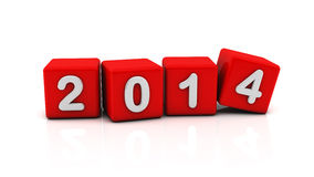 2014 in a dice. New year 2014 in a dice royalty free illustration
