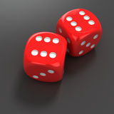 Dice with number six Royalty Free Stock Images