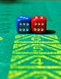 Dice with number six Royalty Free Stock Photography