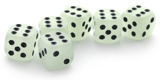 Dice over white background royalty free stock images