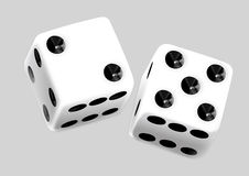Dice  pair Royalty Free Stock Photos