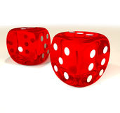 Dice pair Royalty Free Stock Image