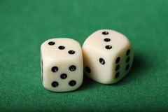 Dice Pair 3s Royalty Free Stock Images