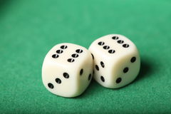 Dice Pair 6s Royalty Free Stock Photography