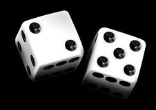 Dice  pair in black background Stock Photo