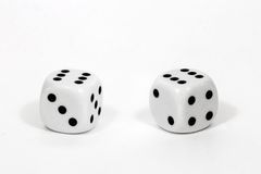 Dice Pair of Sixes. Pair of rounded dice showing a pair of sixes Stock Photo