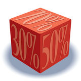 Dice with percentage signs Royalty Free Stock Photo