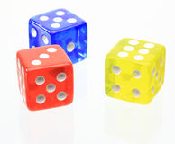 The dice. Pictured the dice in a white background Royalty Free Stock Images