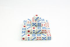 Dice Piramide Stock Images
