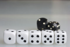 Dice. Playing cubes. Royalty Free Stock Image