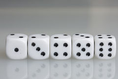Dice. Playing cubes. Stock Images