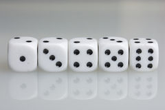 Dice. Playing cubes. Stock Photography
