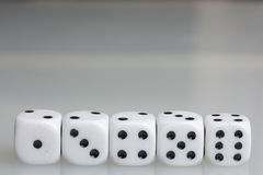 Dice. Playing cubes. Royalty Free Stock Images
