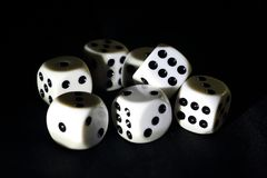Dice for playing a game royalty free stock images
