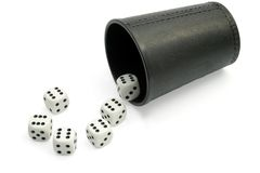 Dice ,Question Concepts Stock Photography