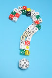 Dice in Question Mark Shape Stock Image