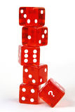 Dice with question mark Royalty Free Stock Photography