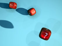 Dice with question marks Royalty Free Stock Photography