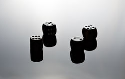 Dice Reflecting Stock Image