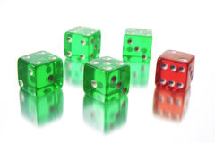 Dice with Reflection Royalty Free Stock Photography