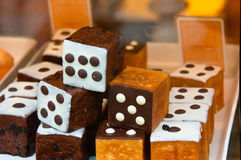 Dice Resembled Confectionery Stock Photos
