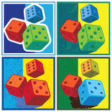 Dice in retro style Royalty Free Stock Photos