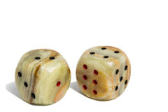 Dice Rocks Royalty Free Stock Photography