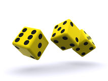 Dice roll Stock Image