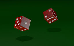 Dice roll in a game Stock Image