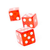 Dice roll Royalty Free Stock Images