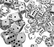 Dice rolling background Stock Photo