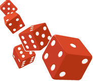 Dice Rolling with White Background Royalty Free Stock Image