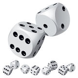 Dice rolls. Set of dice rolls. Vector illustration Stock Photography