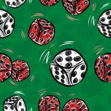 Dice seamless. Pattern, vector illustration for your design, eps10 Stock Photography