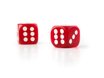 Dice in selective focus Stock Photos