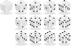 Dice set Stock Photo
