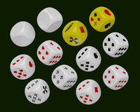 Dice set Royalty Free Stock Images