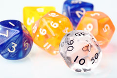 Dice set for board game Stock Photo