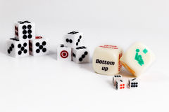 Dice sex game. Play love games with exotics sex dice. On white background stock images