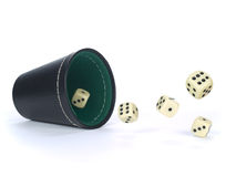 Dice shaker Royalty Free Stock Photos
