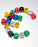 Dice in shape of a euro symbol Stock Image